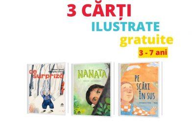 Trei cărți ilustrate deosebite, disponibile gratuit online [3 – 7 ani]